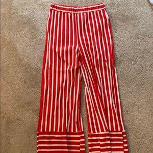 Red striped Zara pants